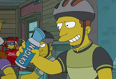 Portable Oxygen on the Simpsons